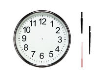 Blank silver clock with clipping paths Stock Image