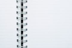 Close-Up of blank spiral dot line white note Royalty Free Stock Image