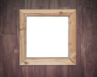Close-up blank white board with wood frame Royalty Free Stock Images