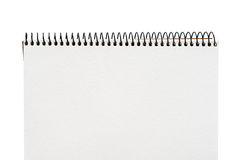 Close up of a blank white notebook Royalty Free Stock Image