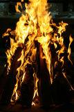 Close-up of a blazing fire stock image
