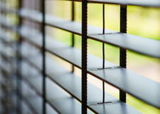 Close-up of blinds. In an interior royalty free stock images
