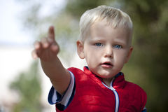 Close up, Blonde baby boy Stock Image
