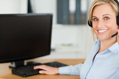 Close up of a blonde businesswoman Royalty Free Stock Image