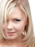 Close-up of blonde girl Stock Photos