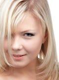 Close-up of blonde girl Stock Photos
