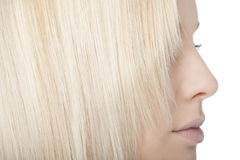 Close-up of blonde hair Royalty Free Stock Photos