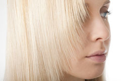 Close-up of blonde hair Stock Images