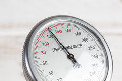 Close up of blood pressure gauge Stock Photography