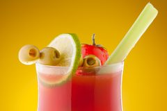 Close-up of bloody Mary cocktail Royalty Free Stock Photos