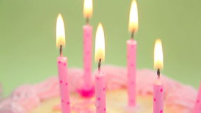 Close Up Blowing out Candles Stock Photography