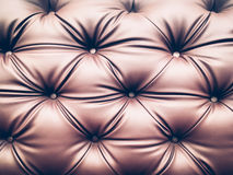 Close up blown leather sofa backrest backround.  Royalty Free Stock Image
