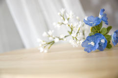 Close up blue artificial flowers Stock Image