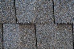 Close up blue asphalt shingle background. Blue asphalt shingle for roof work Royalty Free Stock Images