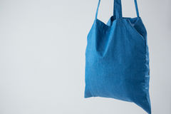 Close-up of blue bag Royalty Free Stock Photography