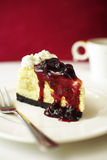 Close up blue berry cheese cake Stock Photos