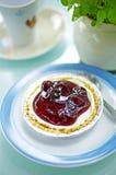 Close up blue berry cheese cake Stock Photos