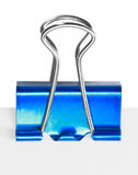 Close up of a blue binder clip Stock Photo