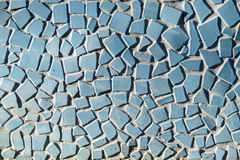Close up of blue ceramic tile as a background pattern Royalty Free Stock Image