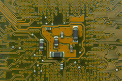 Close up of the blue circuit board Royalty Free Stock Photos