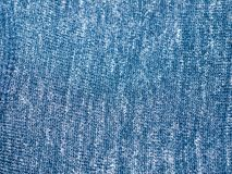 Close up blue cloth fabric texture background Royalty Free Stock Photo