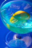 Close up of blue curacao Stock Photography