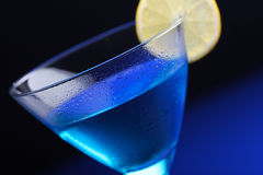 Close up of blue curacao drink Stock Image