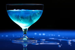 Close up of blue curacao drink Stock Images