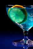 Close up of blue curacao drink Stock Photo