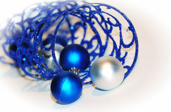 Close-up blue curling ribbon Royalty Free Stock Photography