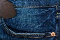 Close up of blue denim jeans. Denim jeans texture stock photo