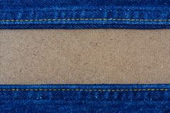 Close up of blue denim jeans. On wooden, denim jeans texture royalty free stock photography