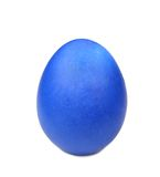 Close up of blue easter egg. Stock Photos