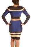 Close up blue gold dress back Stock Image