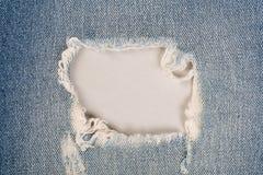 Close up blue jean frame stock photo