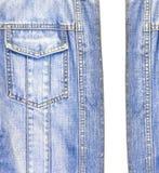 Close up the blue jean jacket Stock Photos