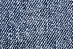 Close up of blue jean texture Royalty Free Stock Photo
