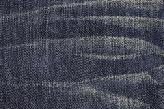 Close up of blue jean texture Stock Images