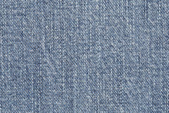 Close up of blue jean texture Stock Photography