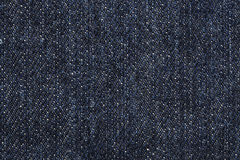 Close up of blue jean texture Stock Image