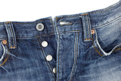 Close up of blue jeans Royalty Free Stock Photo