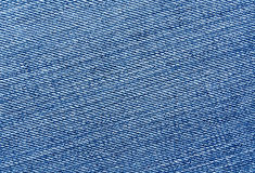 Close-up of blue jeans cloth. Royalty Free Stock Images