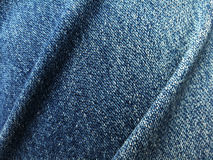 Close up blue jeans denim fold Royalty Free Stock Photos