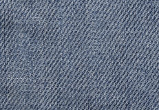 Close up of Blue Jeans Fabric Royalty Free Stock Photography