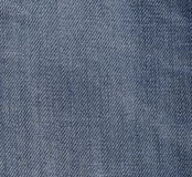 Close up of Blue Jeans Fabric Royalty Free Stock Images