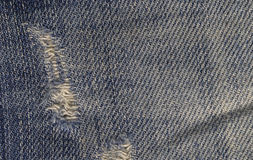 Close up of Blue Jeans Fabric Stock Image
