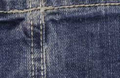 Close up of Blue Jeans Fabric Stock Photos