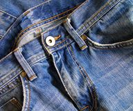 Close up of blue jeans Stock Photo