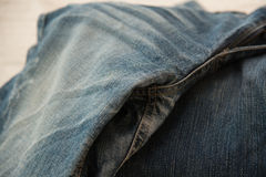 Close up of blue jeans Royalty Free Stock Photos