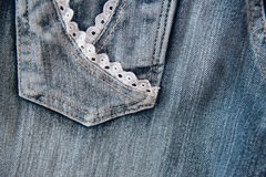 Close up of blue jeans Stock Photography
